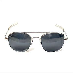 Military Pilot Aviator Gunmetal Gray Sunglasses